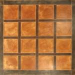 Pavimento acifidicato - riquadri vari colori